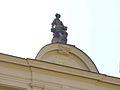 Bayreuth, Maximilianstrasse 69, Dachfigur Terpsichore (1886), 11.09.09.jpg