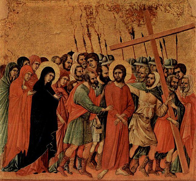 File:Bearing of the Cross (Duccio di Buoninsegna).jpg