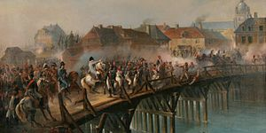 Battle of Arcis-sur-Aube - Napoleon at the bridge of Arcis-sur-Aube by Jean-Adolphe Beaucé.
