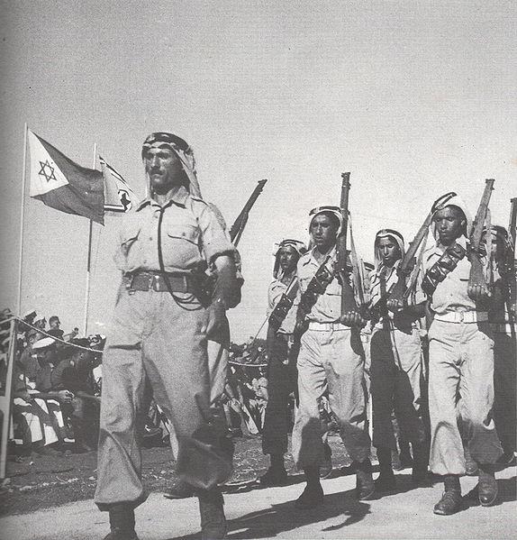 soldiers rumat al-heib military parade tel-aviv june 1949 nbsp