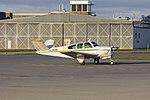 Beechcraft V35 Bonanza (VH-DEV) taxiing at Wagga Wagga Airport.jpg