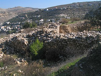 Bar Kokhba revolt - Ruined walls of the Beitar fortress, the last stand of Bar Kokhba