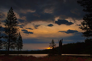 Bench Lakes (Idaho) chain of five small alpine glacial lakes in Custer County, Idaho, United States