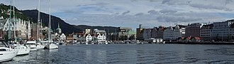 Vågen, Bergen - The inner part of the bay