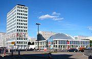 """Haus des Lehrers"" and Congress Hall at Alexanderplatz."