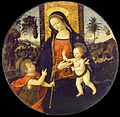 Bernardino di Betto called Il Pinturicchio and workshop - The Virgin and Child with the Infant Saint John the Baptist - Google Art Project.jpg