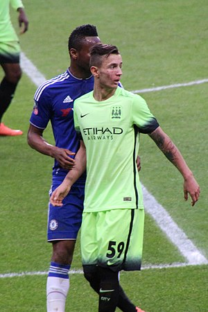 Bersant Celina - Celina with Manchester City in February 2016