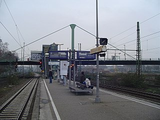 railway station in Düsseldorf, Germany