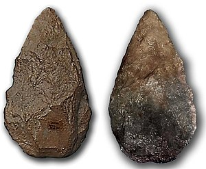 Thunderstone (folklore) - Picture of two Lower Paleolithic bifaces