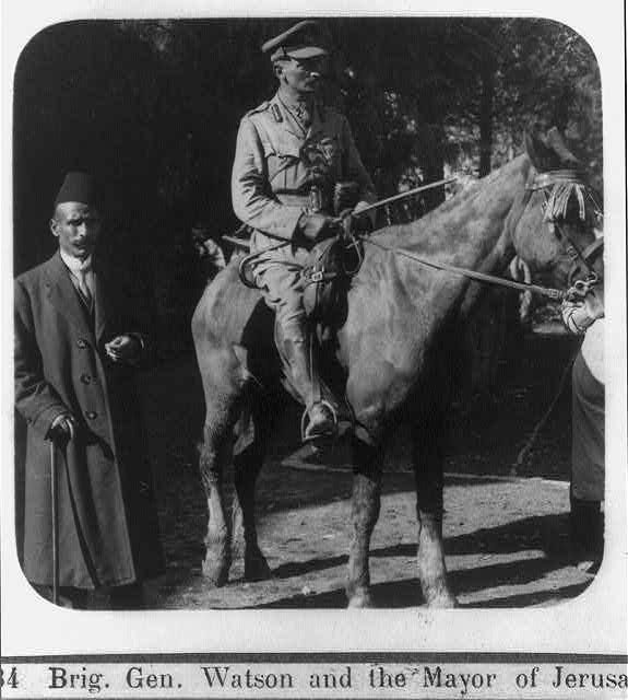Big Gen Watson Mayor Jerusalem Dec 1917