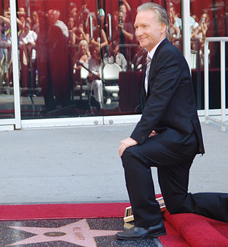 Bill Maher - Maher next to his star on the Hollywood Walk of Fame in September 2010