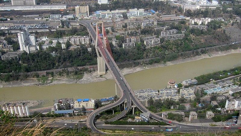 File:Bingcaogang Bridge - view from Panzhihua Park.jpg
