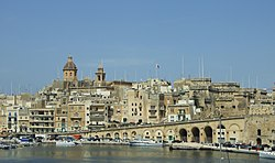 View of Birgu, with the Church of Annunciation visible