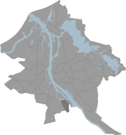 Location of Bišumuiža in Riga.