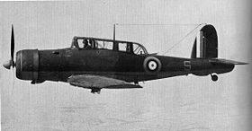 "Uno Skua Mk.II in volo, L2928 ""S"", appartenente allo 801 Naval Air Squadron della Fleet Air Arm (Royal Navy)"