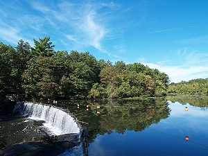 Blackstone River - Blackstone River at the Blackstone River and Canal Heritage State Park, near Mass./R.I. state line