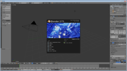 Interfaccia di Blender 2.73a
