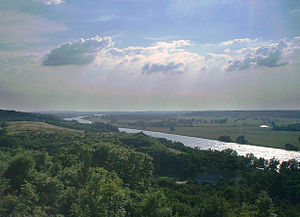 Lower Oder Valley National Park - View from Krajnik Dolny on the Polish side of the border
