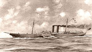 Paddle steamer - The Advance, Greenock-builtAmerican Civil War blockade-runner sidewheel steamer
