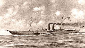 Paddle steamer - The Advance, Greenock-builtAmerican Civil War blockade-runner sidewheel steamer