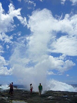 Palauli - Taga blowholes on the coast.