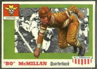 Bo McMillin - McMillin on a 1950s football card