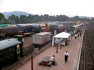 Strathspey Railway (preserved) - Steam rally in 2004