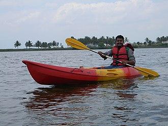 Yagachi River - Image: Boating at Yagachi Dam
