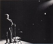 Bob Dylan performing at St. Lawrence University in New York, 1963.