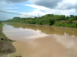 Solo River - Bengawan Solo passing through Bojonegoro, East Java