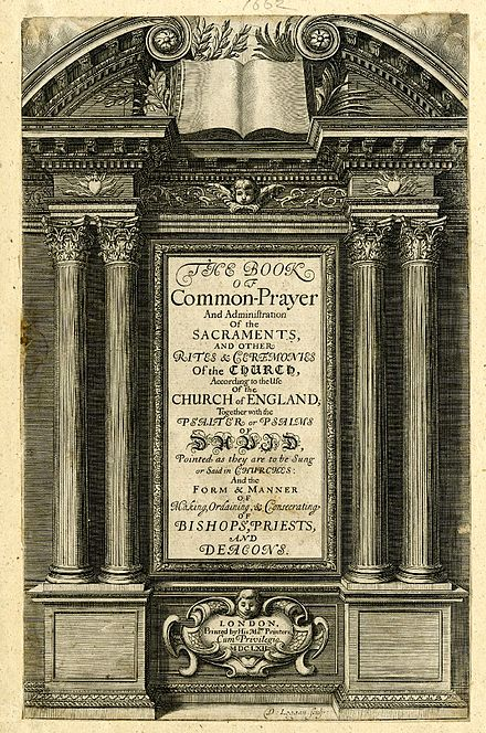 Title page of the 1662 Prayer Book Book of Common Prayer (1662).jpg