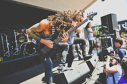 Born of Osiris live auf der Vans Warped Tour 2012.