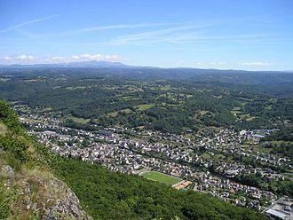 Bort-les-Orgues - General view from les Orgues.