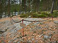 Boundary marker of Treaty of Teusina marker in Virranniemi, Tuusniemi, Finland, 2018 September.jpg