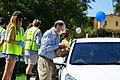 Brad Sherman collects food donations at North Hollywood Interfaith Food Pantry 02.jpg