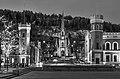 Bragernes church & Town Hall (bw).jpg