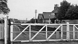 Brancepeth - Remains of Brancepeth railway station in 1965