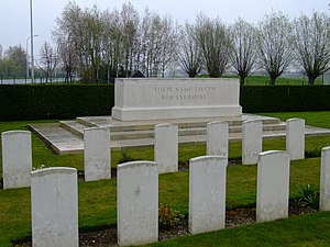 Brandhoek Military Commonwealth War Graves Commission Cemetery - The War Stone