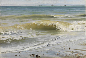 Breaking Waves with Distant Ships (Source: Wikimedia)