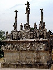 """Sculpted """"calvaries"""" can be found in many villages."""