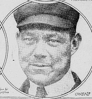 Brick Owens - Owens in a 1922 issue of the New York Tribune