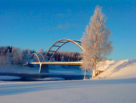 Bridge over the Vindel river at Holmforsen in Rödåsel.png