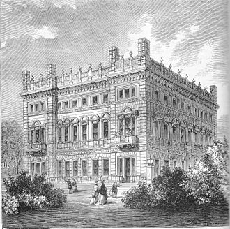 Bridgewater House, Westminster - Bridgewater House in a 19th-century wood engraving