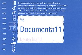Documenta11 - Stamp Documenta XI 2002