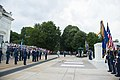Brig. Gen. Enrique Amrein, chief of the General Staff of the Argentine Air Force, Participates in a U.S. Air Force Full Honors Wreath-Laying Ceremony at the Tomb of the Unknown Soldier (35219153403).jpg