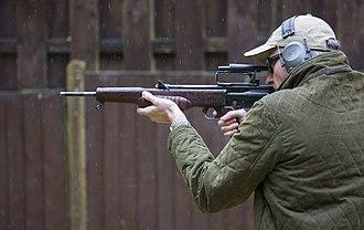 EM-2 rifle - EM-2 being fired