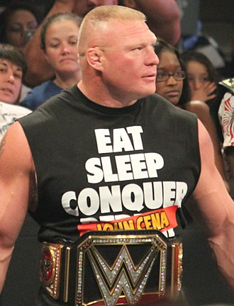 WrestleMania 31 - Brock Lesnar was scheduled to defend his WWE World Heavyweight Championship against Roman Reigns.