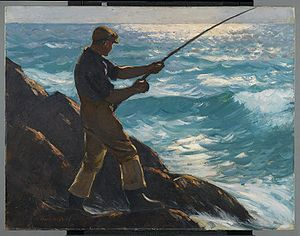 Gifford Beal - Gifford Beal, The Fisherman, 1922, Brooklyn Museum
