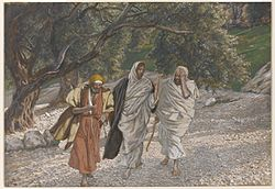 James Tissot: The Pilgrims of Emmaus on the Road
