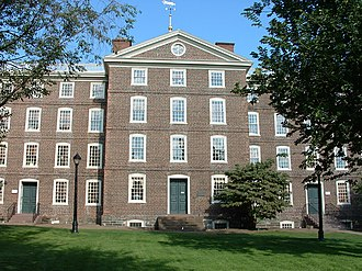 Washington–Rochambeau Revolutionary Route - Brown's University Hall, used as a hospital for injured troops.